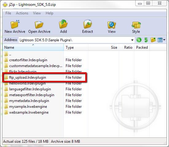 Lightroom FTP Upload Plugin